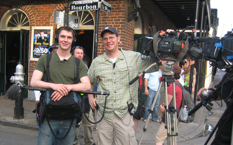 Work on a New Orleans shoot for a reality television show on Food Network.  Multiple wireless mics (Lectrosonics) and Panasonic HDX-900.