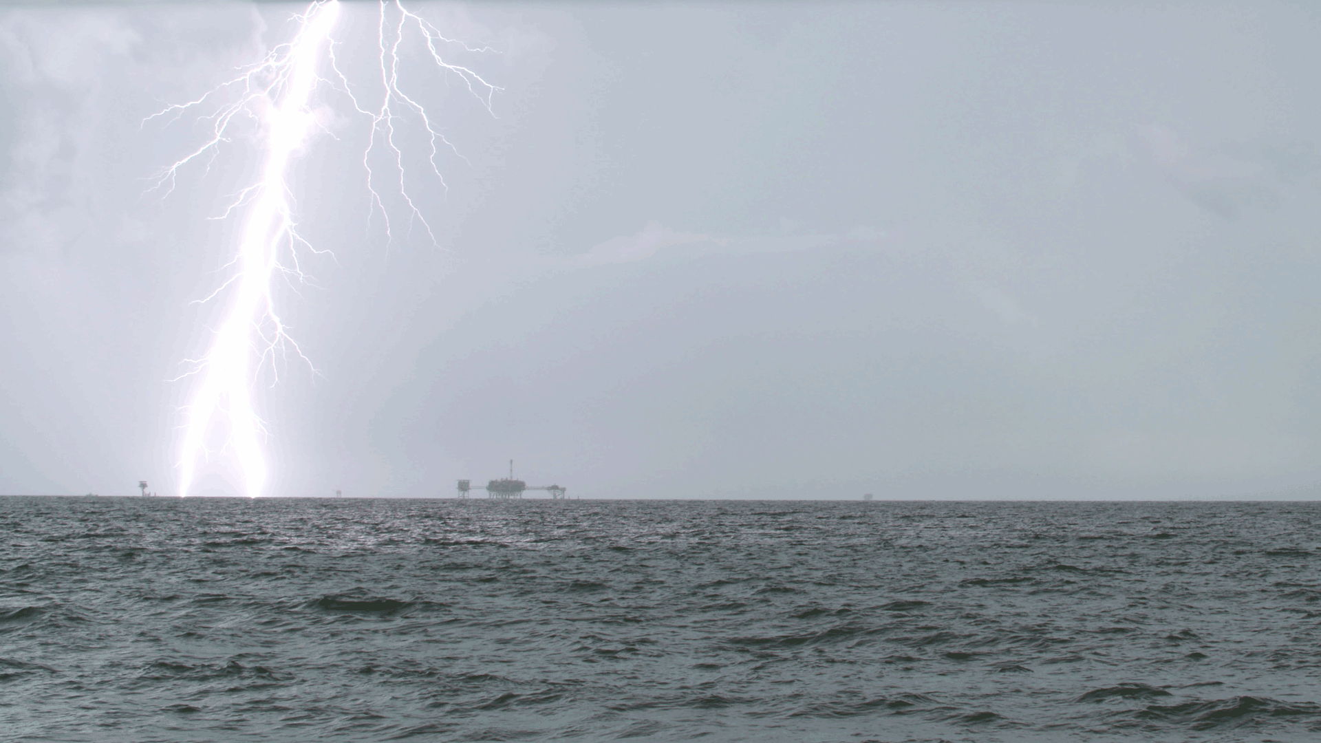 A lightning strike captured in slow motion while on the coast of Dauphine Island, Alabama.  The video was 4K resolution.